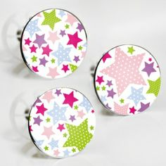 """Stöpselaufkleber """"bunte Sterne"""" Sticker Set – 3 Aufkleber"""