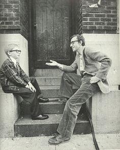 Woody Allen with little Woody Allen