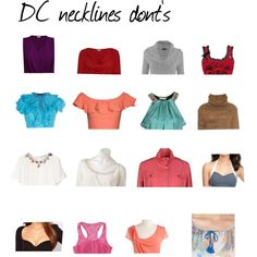 DC necklines donts by wichy on Polyvore