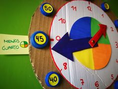 Reloj para aprender las Horas | Los Inventos de Mamá Holiday Homework, Montessori, Time Activities, Lily, Canoe, Educational Crafts, Story Time, Preschool Printables, Clock