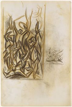 """Untitled - 1937-39 - Colored pencil and graphite on paper - H18""""XW12"""" - Metropolitan Museum of Art - Copyright ARS"""