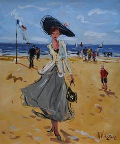 French Art Network | Clauzade Paintings - A LA PLAGE