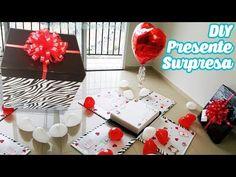DIY Caixa Surpresa com Balão 💝 Presente Surpresa DIA DOS NAMORADOS - YouTube Helium Gas, Balloon Gift, Diy Box, Birthday Cards, Balloons, Bouquet, Miniatures, Gift Wrapping, Valentines
