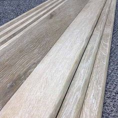 Bullnose for every wood look plank tile - glazed and fired with a technique that creates wood look graining on the bullnose edge!