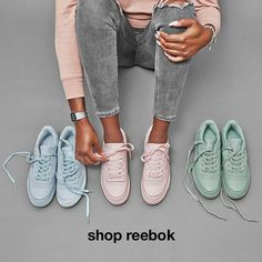 new styles 377c9 77016 Shop reebok Pink Reebok, Reebok Club C, Club Outfits, Jean Outfits, Green
