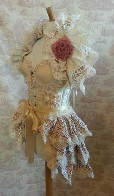 Steampunk Burlesque ROSEBUD Bustle Victorian Decadence Gothic Lolita By Ophelias Folly