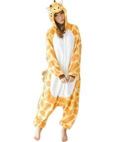 Triline Kigurumi Pajamas Anime Costume Adult Animal Onesie Giraffe Cosplay  Size M 0c29e1352
