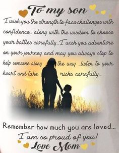 Love my son mother - son bond !!!