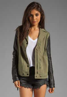 JOE'S JEANS Easy Rider Jacket in Army Black at Revolve Clothing - Free Shipping! Chupa, Easy Rider, Joes Jeans, Casual Jeans, I Love Fashion, Womens Fashion, Costumes For Women, Revolve Clothing, Riders Jacket