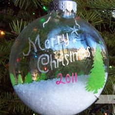 Snowy Wonderland Christmas Ornament