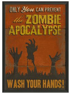 Zombie Apocalypse: Wash your Hands....for the kids bathroom...maybe Nols will wash his hands without a reminder :)