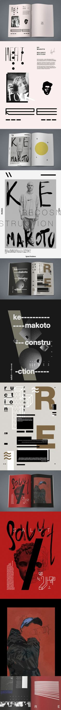 Ke Макото Reconstruction 2013 Art direction and layout: Ignat Avdeev Size: 420x297mm (open size)