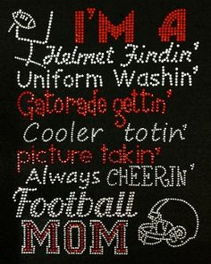 Football Mom Bling Shirt Rhinestone by BlingMeBabyBoutique on Etsy, $31.99