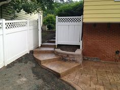 These are extended stairs leading to the backyard of a Cleveland Ohio home.