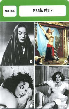 Card Actor Fiche Cinéma Acteurs Maria Félix Mexique | eBay
