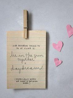 leaving love notes -- perhaps a designated little spot ♥