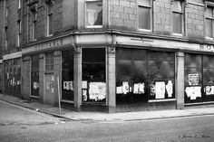 The corner of St. Nicholas Street and Flourmill Brae in Aberdeen, just prior to demolition to make way for the concrete St. Granite City, Aberdeen Scotland, City By The Sea, Make Way, Shopping Center, Concrete, Irish, Centre, Corner
