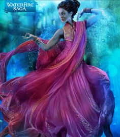 Neela. India. Sari. The Waterfire Saga by Jennifer Donnelly. Mermaid.