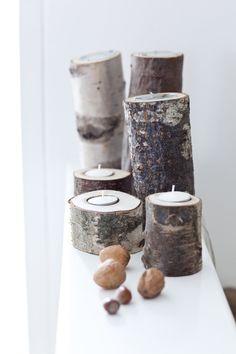 In Vriendin 40: woontrends voor de herfst en winter: Haal de natuur in huis: DIY houten kaars