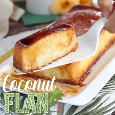 Have some sun in your dessert ! A simple, tasty, and smooth flan that you'll love for sure ! Sicilian Recipes, Sicilian Food, Cuban Recipes, Best Flan Recipe, Mexican Dessert Recipes, Filipino Desserts, Coconut Flan, Cube Steak Recipes, Delicious Desserts