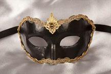 Luxury Venetian Masks for Men - CROWN. Available in black or white