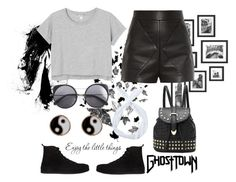 """""""Untitled 6"""" by itschrissya on Polyvore featuring Balenciaga, Monki, Wood Wood, Accessorize and Ann Demeulemeester"""