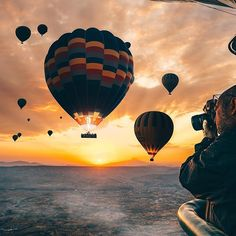 Magical morning of the Cappadocia   Have you ever fly before with hot air baloon?  #cappadocia  #airBaloon .