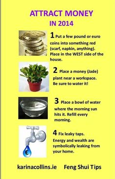 Feng shui money tips Loved & pinned by http://www.shivohamyoga.nl/ #fengshui