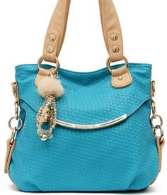 Fashion Handbags On Blue fashion handbag