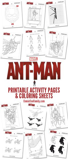 Enjoy these free printables of Marvel's Ant-Man Coloring Pages and Activity Sheets to celebrate the release of Marvel's Ant-Man movie. Print-at-home and you'll have instant fun!