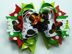 Minnie Mouse Christmas Hairbow Over the by sweetiepiehairbows22, $12.99