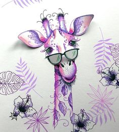 Pink Ink Designs Clear Stamp Set - x 8 sheet of clear stamps. sizes: Large giraffe: x sunglasses: x Hibis Giraffe Decor, Giraffe Art, Ink Painting, Fabric Painting, Lavinia Stamps Cards, Horse Cards, Ink Stamps, Animal Cards, Watercolor Cards
