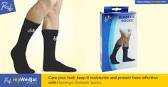 Care your foot, keep it moisturize and protect from infection with Flamingo Diabetic Socks. #FootCare #myWedjat