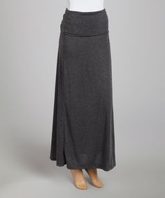 A fab foundation should be comfortable, stylish and endlessly wearable. Luckily, this long-and-lean maxi fits the bill. Its fold-over waistband flatters the figure, and a classic hue promises ample styling opportunities.