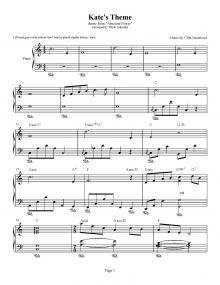 Absolute Power - Kate's Theme - Clint Eastwood | Piano Plateau Sheet Music