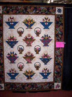 Magical Threads - Inspired Stitches Quilt Show 2013 - Flower Baskets Quilt