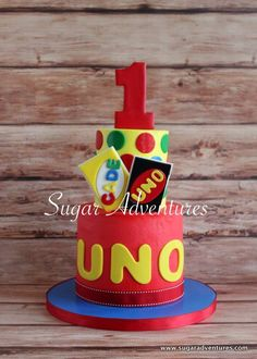 Custom Uno themed for a first birthday