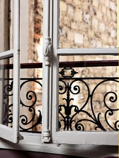 Shutter and gorgeous iron work ~ Paris