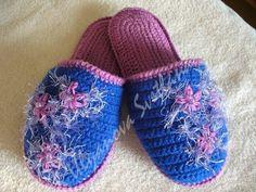 Delicadezas en crochet Gabriela: Zapatillas en ganchillo con esquemas