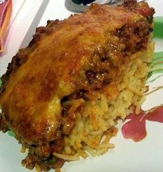 "Spaghetti Casserole - ""delish! I used ground turkey"" @allthecooks #recipe"