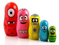 ThinkGeek :: Yo Gabba Gabba Nesting Dolls   Helpful in teaching Synthesizing as a comprehension strategy