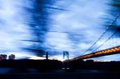 Blue Hour - GW bridge by Carine Magescas - 2Filles2Villes » 2 Girls 2 Cities-Every Week-1 Photo Each