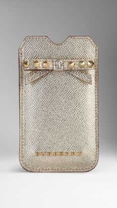 Metallic London Leather Studded Bow iPhone 5/5s Case | Burberry