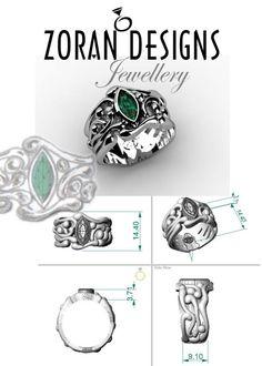 df51a53d7aa75a Custom Jewellery Designer - Platinum Organic Emerald Ring — Zoran Designs  Jewellery