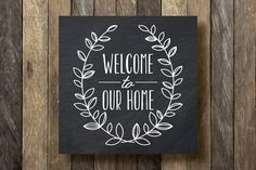 Welcome to our Home Sign Instant Download by TheLionAndTheLark, $5.00