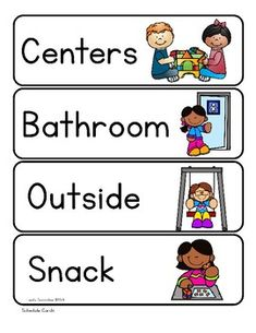 Visual Schedule Cards by Lovely Commotion Preschool Resources Visual Schedule Preschool, Classroom Schedule Cards, Kids Schedule, Preschool Special Education, Visual Schedules, Class Schedule, Preschool Speech Therapy, Preschool Lessons, Kindergarten Classroom