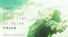 "Biffy Clyro Lyrics ""Spanish Radio"" #typography #lyrics #wordart with picture from the movie ""into the wild"""