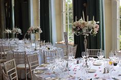 Romantic candelabra designs created by wild orchid wedding flowers at Woburn sculpture gallery, blush and white wedding flowers. Wild Orchid, White Wedding Flowers, London Wedding, Luxury Wedding, Hydrangea, Orchids, Wedding Planning, Table Settings, Romantic