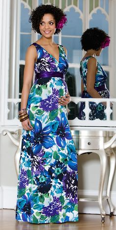 Floral Maternity Maxi Dress by Tiffany Rose