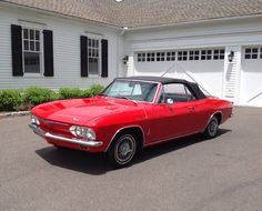 1965 #Chevrolet #Corvair Monza looking great in red. Looks just like my Papa's..loved that car